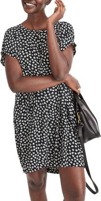 Madewell Woodcut Flower Shirred Easy Dress