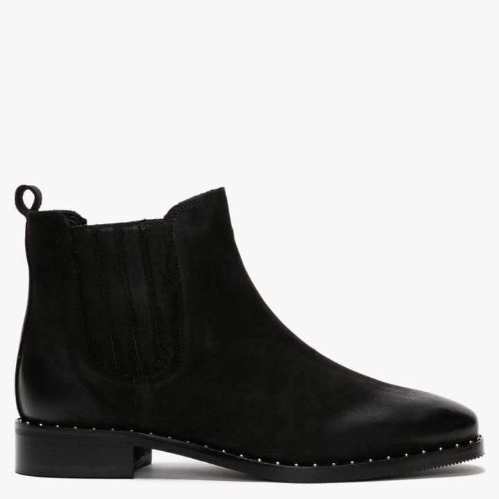 Daniel Isla Black Suede Chelsea Boots