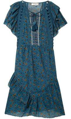 Sea Crochet And Pom Pom-trimmed Cotton-blend Gauze Mini Dress