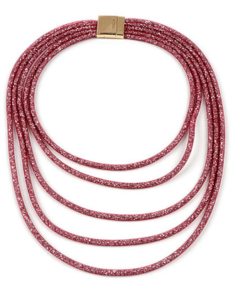 Amrita Singh Women's Necklaces Ruby - Red Crystal & Goldtone Mesh Layered Necklace