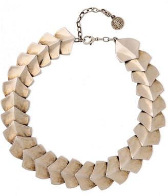 Roberto Cavalli Snake Scale Burnished Silver-tone Bracelet