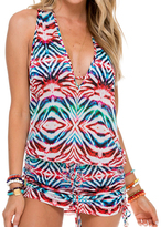 Luli Fama T-Back Mini Dress In Multicolor (L517979)
