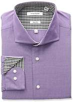 Isaac Mizrahi Men's Slim Fit End Cut Away Collar Dress Shirt