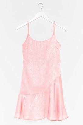 Nasty Gal Womens So Vain Satin Cami Dress - Pale Pink