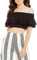 Gianni Bini Carla Off the Shoulder Crop Pullover