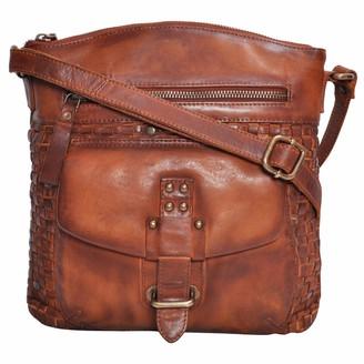 Oak leathers Sling Bags for Women Genuine-Leather - Vintage Multi Pocket Crossbody Purse