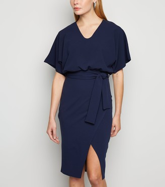 New Look Missfiga Batwing Belted Wrap Dress