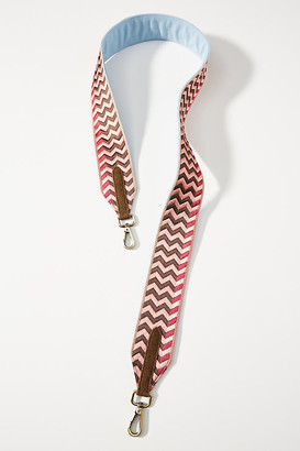 Anthropologie Gavin Embroidered Bag Strap By in Pink Size ALL