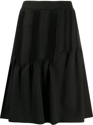 Nina Ricci Micro-Pleat Midi Skirt