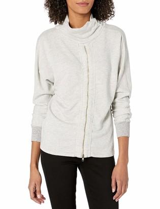 n:philanthropy Women's Helix Mock Neck Sweatshirt with Zip Back