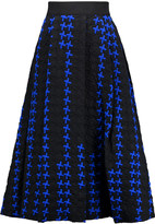 Milly Serena cotton-blend cloqué midi skirt