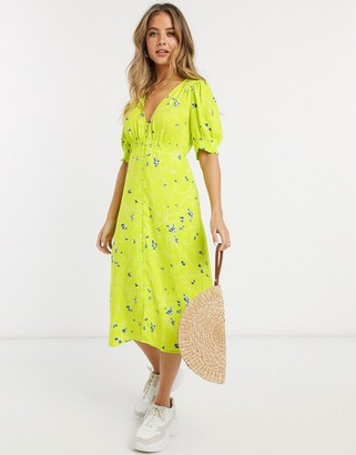 French Connection floral printed midi tea dress