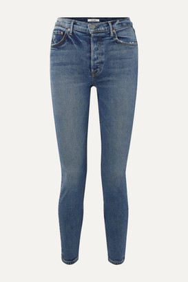 GRLFRND Karolina High-rise Skinny Jeans - Mid denim