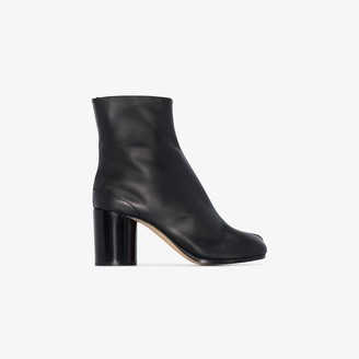 Maison Margiela black Tabi 75 leather ankle boots