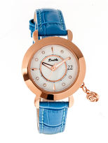 BERTHA Bertha Womens Rose Mother-Of-Pearl Cerulean Leather-Band Watch With Datebthbr5505