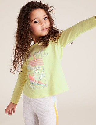 Marks and Spencer Pure Cotton Unicorn Top (2-7 Yrs)