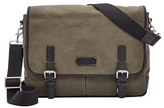 Fossil Men's 'Graham' Canvas Messenger Bag - Green