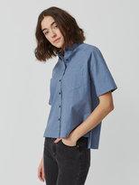 Frank + Oak Midi Oxford Shirt in Midnight Blue Heather