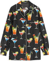 Dolce & Gabbana Printed Silk-twill Shirt - Black