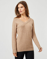 Le Château Knit V-Neck Long Sleeve Sweater