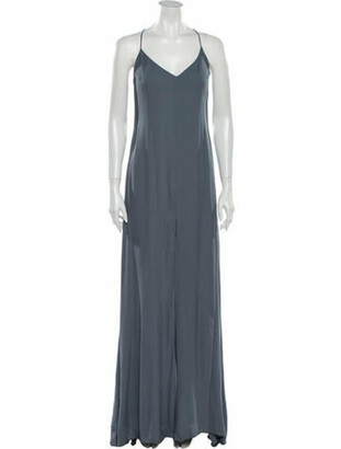 Reformation V-Neck Long Dress w/ Tags Grey