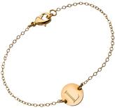 Miriam Merenfeld Jewelry Gold Engraved Initial Bracelet