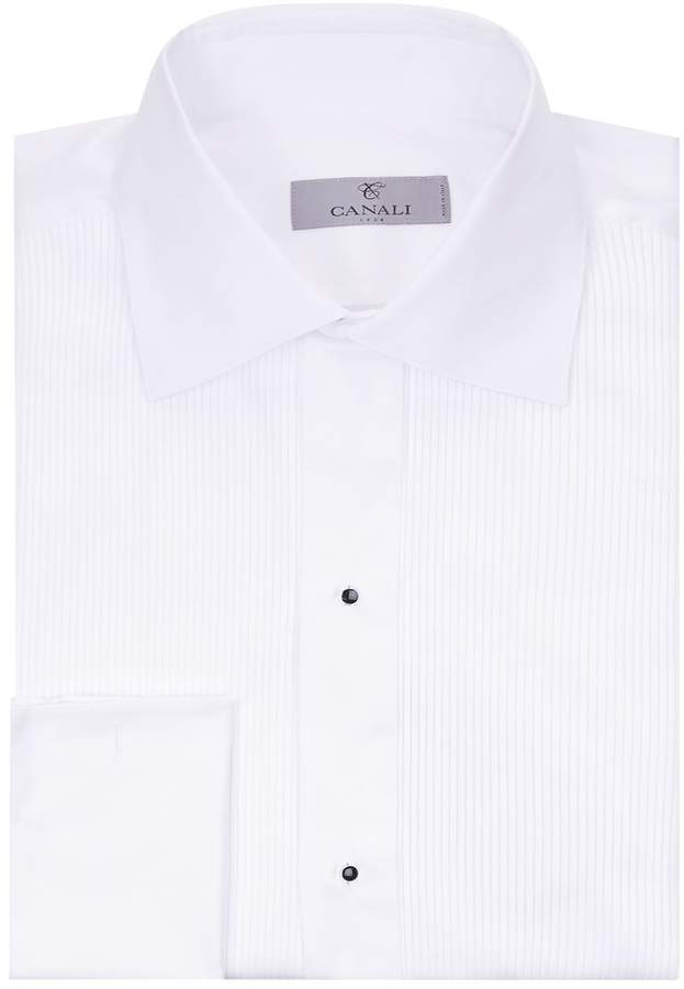 Canali Pleated Cotton Shirt