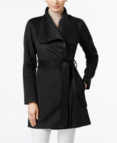 T Tahari Ella Wool-Blend Wrap Coat