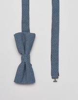 Jack and Jones Bow Tie In Pattern Chambray