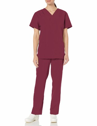 Cherokee Adult's Plus Size Unisex Top and Scrub Pant Set