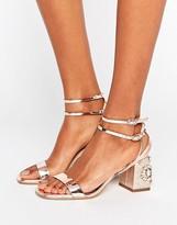 Miss Selfridge Jewelled Block Heel Sandals