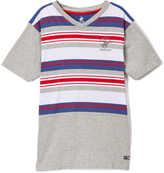 Beverly Hills Polo Club Gray Heather & Red Stripe Jersey Tee - Boys