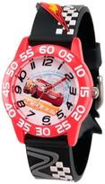 Cars Boys' Disney 3 Lightning McQueen Red Plastic Time Teacher Watch -