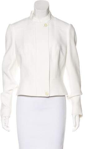 Alexander McQueen Mandarin Collar Long Sleeve Jacket