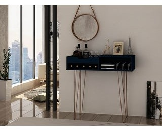 Overstock Manhattan Comfort Rockefeller 39.37 Entryway Console with 3 Compartments