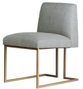 Everly Nolanville Upholstered Dining Chair Quinn Upholstery Color: Fabric Vibe Gray