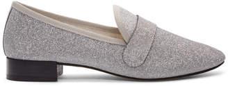 Repetto Silver Glitter Michael Loafers