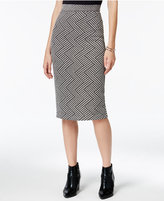 Bar III Printed Knit Pencil Skirt, Only at Macy's