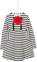 Simonetta corsage striped dress