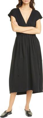Vince V-Neck Cotton Dress