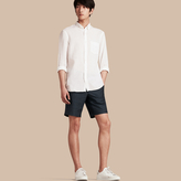 Burberry Linen Cotton Tailored Shorts