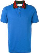 Gucci future modern polo shirt - men - Cotton/Polyester/Spandex/Elastane - S