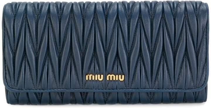 Miu Miu (ミュウミュウ) - Miu Miu Matelassé 長財布
