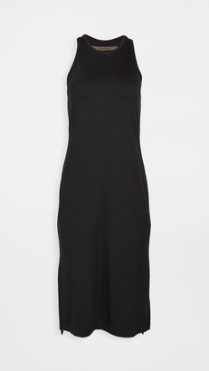 Enza Costa Matte Jersey Side Slit Sheath Dress