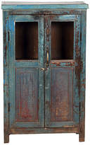 One Kings Lane Vintage Jalanhili Aqua Cabinet