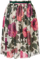 Blugirl rose print skirt