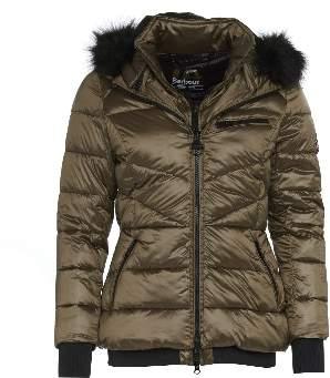 Barbour International - Strike Quilted Jacket in Bronze - 8 | bronze - Bronze