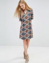 Vero Moda Printed Pencil Dress With V Neck