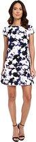 Jessica Simpson Women's Short Slv Floral Shift Dress