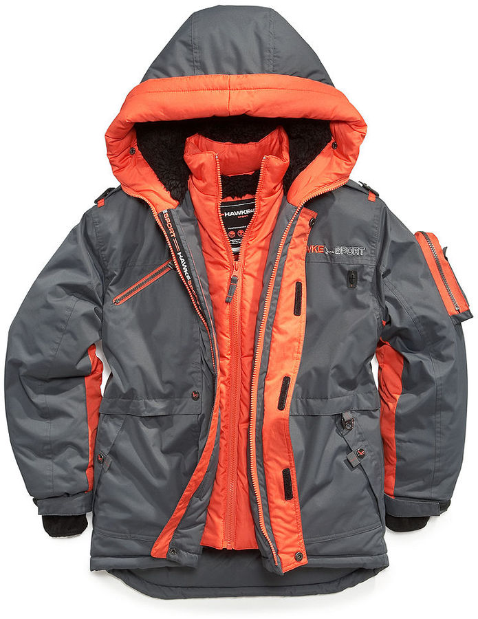 Hawke & Co Kids Jacket, Boys Vested Parka